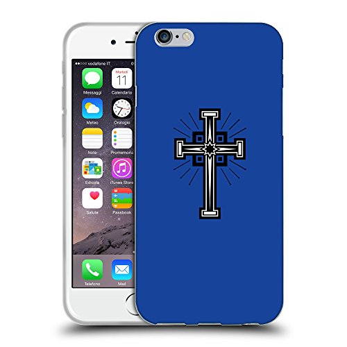 GoGoMobile Coque de Protection TPU Silicone Case pour // Q07990613 Christian Cross 24 Bleu // Apple iPhone 7