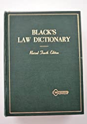Blacks Law Dictionary 4TH Edition Revised