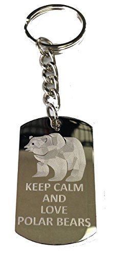 Keep Calm and Love Polar Bears - Metal Ring Key Chain Keychain ()