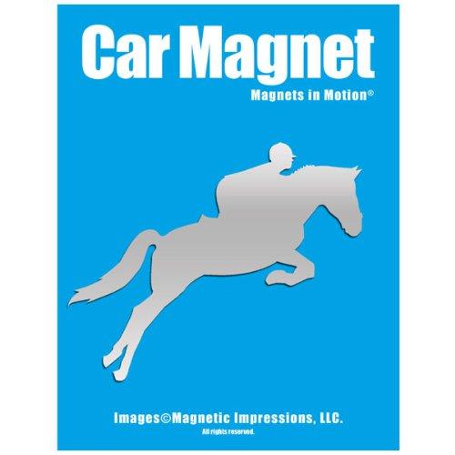 Equestrian Rider Car Magnet Chrome