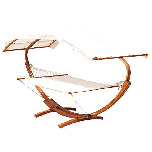 Outsunny Wooden Heavy Double Hammock product image