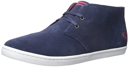 Fred Perry Men's Byron MID Suede Sneaker, Carbon Blue, 10 D UK (11 US) (Perry Sneaker Mid)
