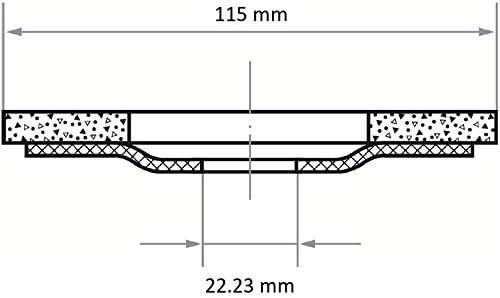 LUKAS Fächerschleifscheibe SLTK universal Ø 125 mm mit M14-Gew. Zirkonkorund Korn 60 |gerade