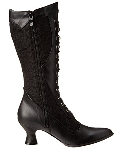 Ellie Shoes Damen 253-Rebecca-Schnürstiefeletten Schwarz