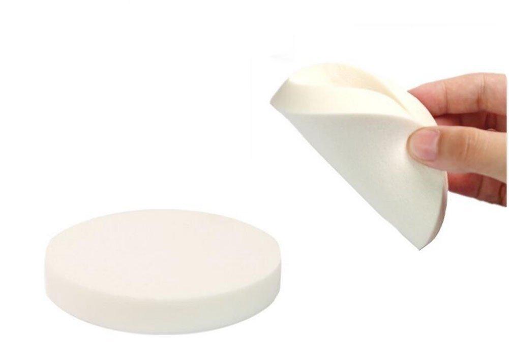 "4PCS Women Girls Soft White Large Makeup Blender Cosmetic Eye Face Body Skin Care Foundation Primer Concealer Puff Sponges Uses for Dry and Wet - 3.54"" Diameter"