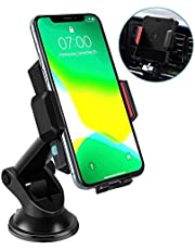 Wireless Car Bracket Charger, Qi Certification,15W Fast Charging,Infrared Automatic Induction, Air Vent Cell Phone Holder for Car Compatible with iPhone 11 Pro Xs Max XR 8, Samsung S10 Note 10, Etc