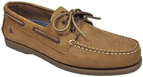Rugged Shark Hombres Classic Boat Zapatos Oak Tan