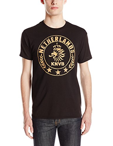 Netherlands National Soccer Team Men's Nether Round T-Shirt, Black, - Shirt 2016 Netherlands