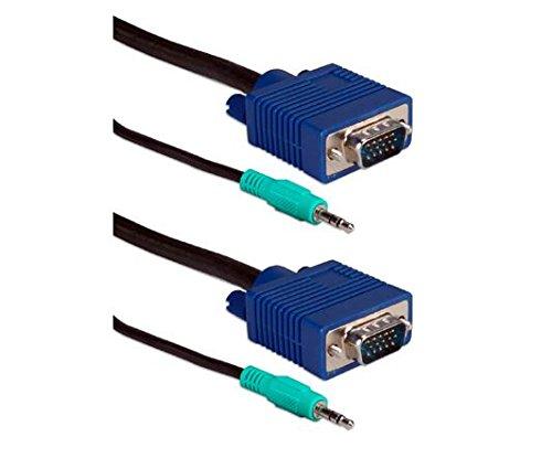 TecNec UltraThin HD15 VGA/UXGA Tri-Shield Cable with Audio - 50ft by TecNec