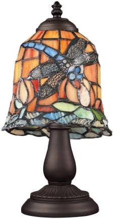 Elk 080-TB-07 Mix and Match Grapevine Tiffany Table Lamp, 13 x 13 x 6 , Bronze