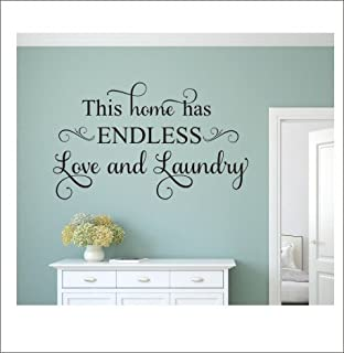 This Home Has Endless Love And Laundry Family Love Wall Decals Quotes For  Living Room Wall Part 35