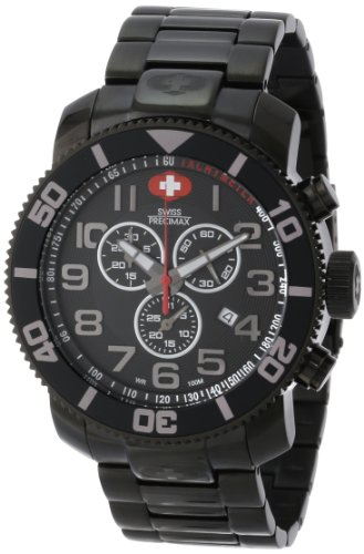 Swiss Precimax Men's SP13033 Verto Pro Black Dial with Black Stainless Steel Band Watch