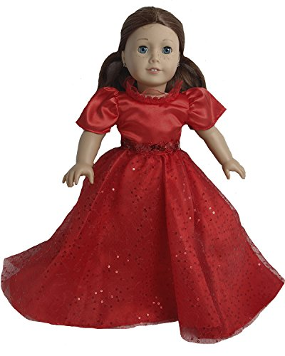BUYS BY BELLA Red Satin Gown for 18 Inch Dolls Like American Girl