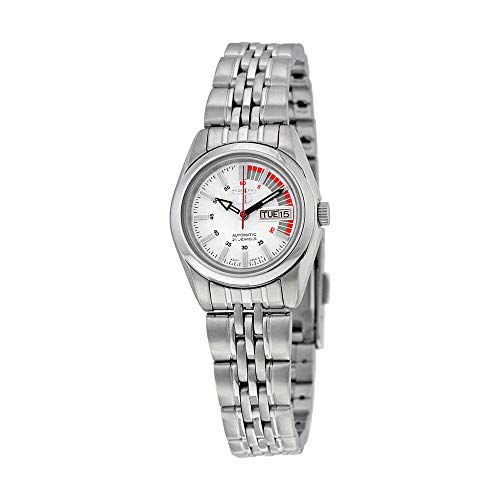 Seiko 5 Automatic White Dial Stainless Steel Ladies Watch SYMA41