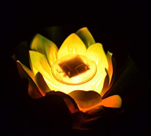 Kreative Led Solarbetriebene Lotus//Seerose Licht Wasserdicht Schwimmende Solar Licht Hof Teich Pool Dekor Bunte Schwimmlampe Gelb