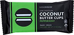 Eating Evolved Dark Chocolate Coconut Butter Cups Mint Cream, 1.5 oz