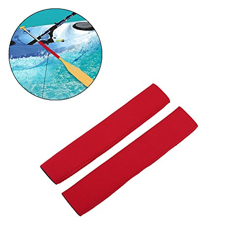 Kayak Paddle Grips - Non-Slip Soft Canoe Paddling Grips Protective Diving Fabric Paddling Grips for Efficient Paddling (Red) (Grip Red Cushion)