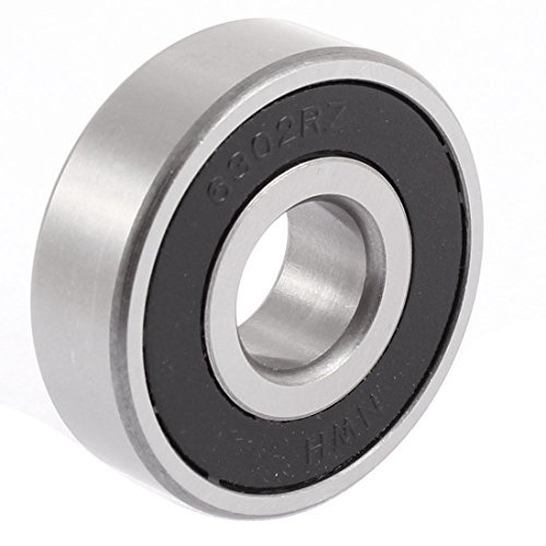 1/2' Sealed Ball Bearings (DealMux 6302RZ 42mm x 15mm x 13.5mm Rubber Sealed Deep Groove Ball Bearing)