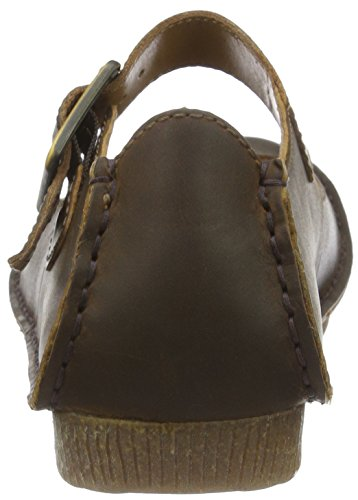 Ballerine Marrone Donna Clarks June Janey Leather Beeswax I0qxx4EBwt