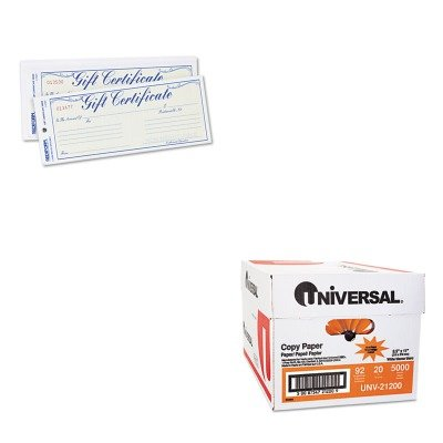 KITRED98002UNV21200 - Value Kit - Rediform Gift Certificates w/Envelopes (RED98002) and Universal Copy Paper (UNV21200)