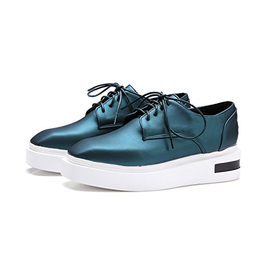 YCMDM Donne Single Leisure Estate Primavera Estate comode scarpe piatte grandi dimensioni scarpe da corte , green , 37