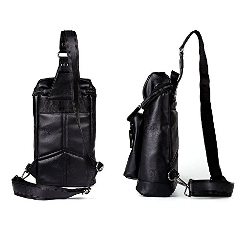 Functional Large Fashionable Capacity for Shoulder Travel with Bag Bag Teens Body Cross PU Bag Leather and Boys Men Sling Soft iVotre for 0OxqYPAO