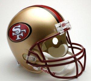 Riddell San Francisco 49ers Deluxe Replica 1996-2008 Football Helmet Full Size