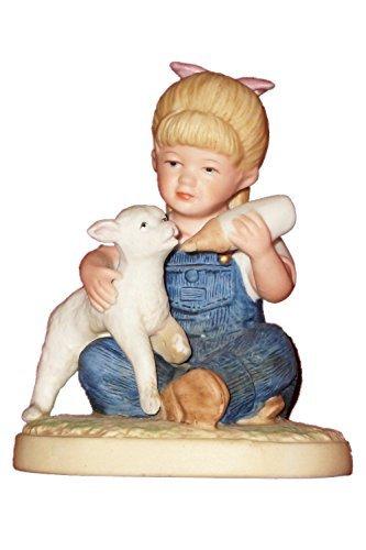 Denim Days Figurine - 1985 Vintage Homco Denim Days New Beginnings- Debbie #1500