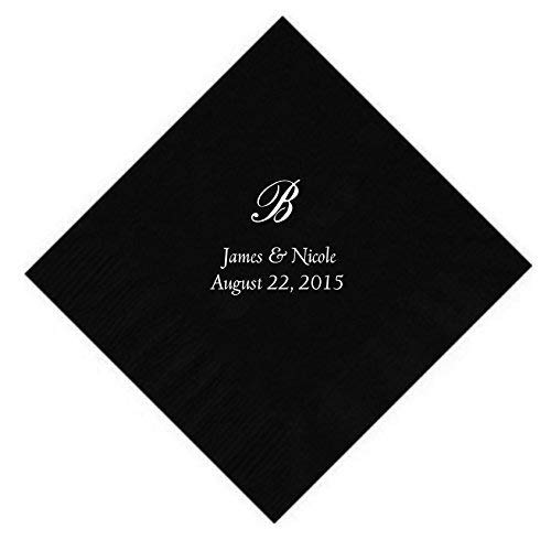 Personalized Cocktail, Beverage or Dessert Script Monogram Napkins (100)]()
