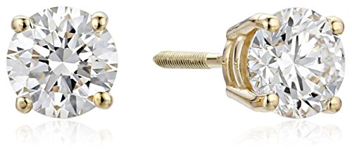 IGI Certified 14k Yellow Gold Lab Created Diamond Stud Earrings (1cttw, I-J Color, SI1-SI2 Clarity)