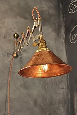 Industrial Scissor Light - Vintage Wall Sconce - Antique Expandable Accordion Lamp