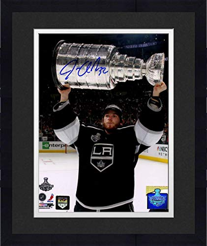 Framed Jonathan Quick Holding Stanley Cup Signed Vertical 8x10 Photo - Steiner Sports Certified - Autographed NHL Photos