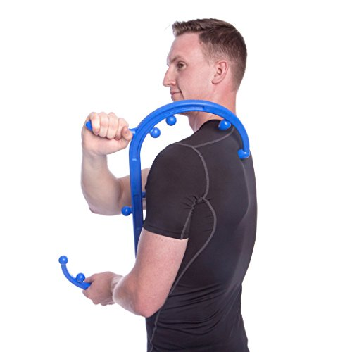 Body Back Company's Body Back Buddy Trigger Point Therapy Self Massage Tool – Lower Back Massager – Neck Massager – Shoulder Massager - Myofascial Release Tool – Deep Muscle Massage (Blue)