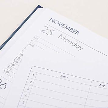 da gennaio a dicembre A4 Diario blu. con appuntamenti Milford Windsor Agenda settimanale 2020,/formato A4,/da scrivania