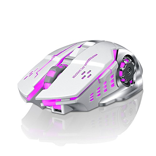 Overmal Rechargeable X8 Wireless Silent LED Backlit USB Optical Ergonomic Gaming Mouse