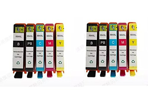 INKTONER 10* PACK 564 XL New Ink Cartridge Set FOR HP PhotoSmart C309 C310 C311 C410 by Ink Toner