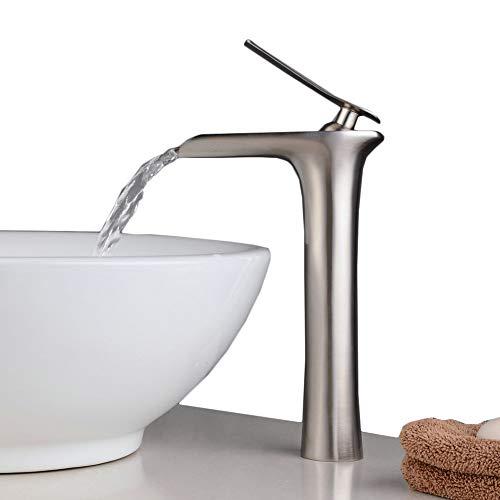 vessel faucet brushed nickle - 2
