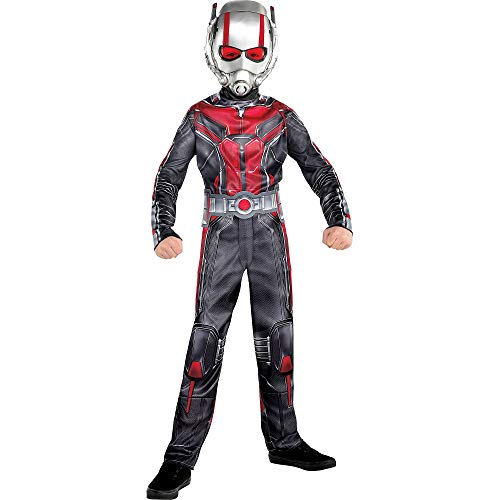 (Costumes USA Ant-Man and the Wasp Ant-Man Costume for Boys, Size Small, Includes a Black and Red Jumpsuit and a)