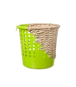 Areaware Bow Bin Half Weave Wastebasket