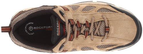 Rockport Hombre, Rock Cove de piel zapatillas Taupe Suede