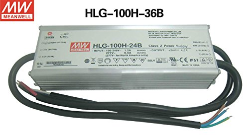 MEAN WELL LED driver HLG-100H-36B 100W 2.65A 36V dimming Power Supply for LED lighting