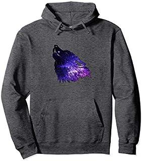 Wolf Galaxy , Purple Wolf Pullover Hoodie T-shirt | Size S - 5XL