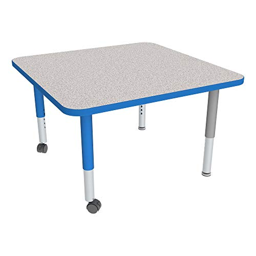 Square Adjustable-Height Mobile Preschool Activity Table ()