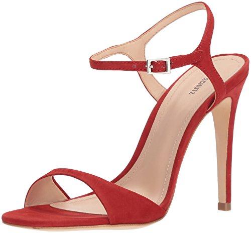 SCHUTZ Women's Jade Heeled Sandal, Tango Red, 8.5 M US by SCHUTZ