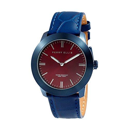 Perry Ellis Slim Line Unisex 42mm Quartz Watch 07012-01