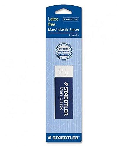 Staedtler Mars Latex-Free Eraser, White, 3 Piece (STD52650)
