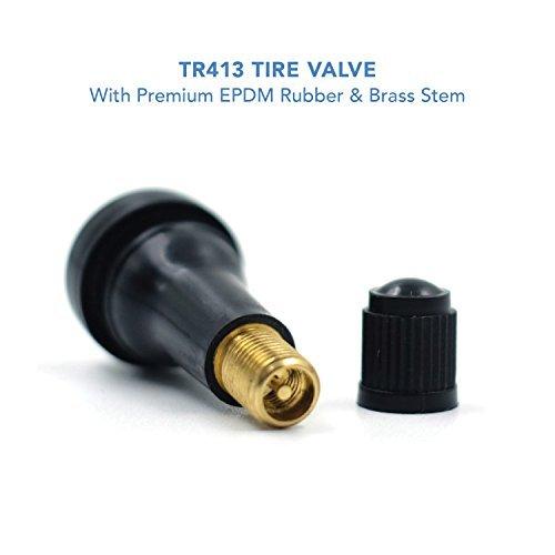 CKAuto TR413 Rubber Snap-in Tire Valve Stem (100 pcs/bag)