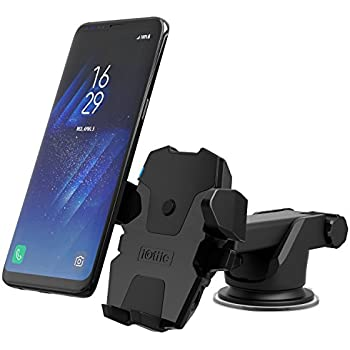 iOttie Easy One Touch Wireless Qi Standard Car Mount Charger for for iPhone X, 8/8 Plus, Samsung Galaxy S8, S7/S7 Edge, Note 8 5 & Qi Enabled Devices