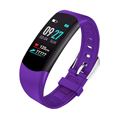 JDgoods Fitness Tracker, Smart Watch Activity Tracker Health Bracelet Waterproof Wristband with Heart Rate Blood Pressure Pedometer Sleep Monitor Calorie Step Counter for Men Women Kids (Purple)