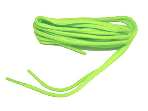 Bright Hot Neon Green Lime Oval Athletic Shoe Sneaker Laces Shoelaces - 2 Pair Pack pUgWCqdCie